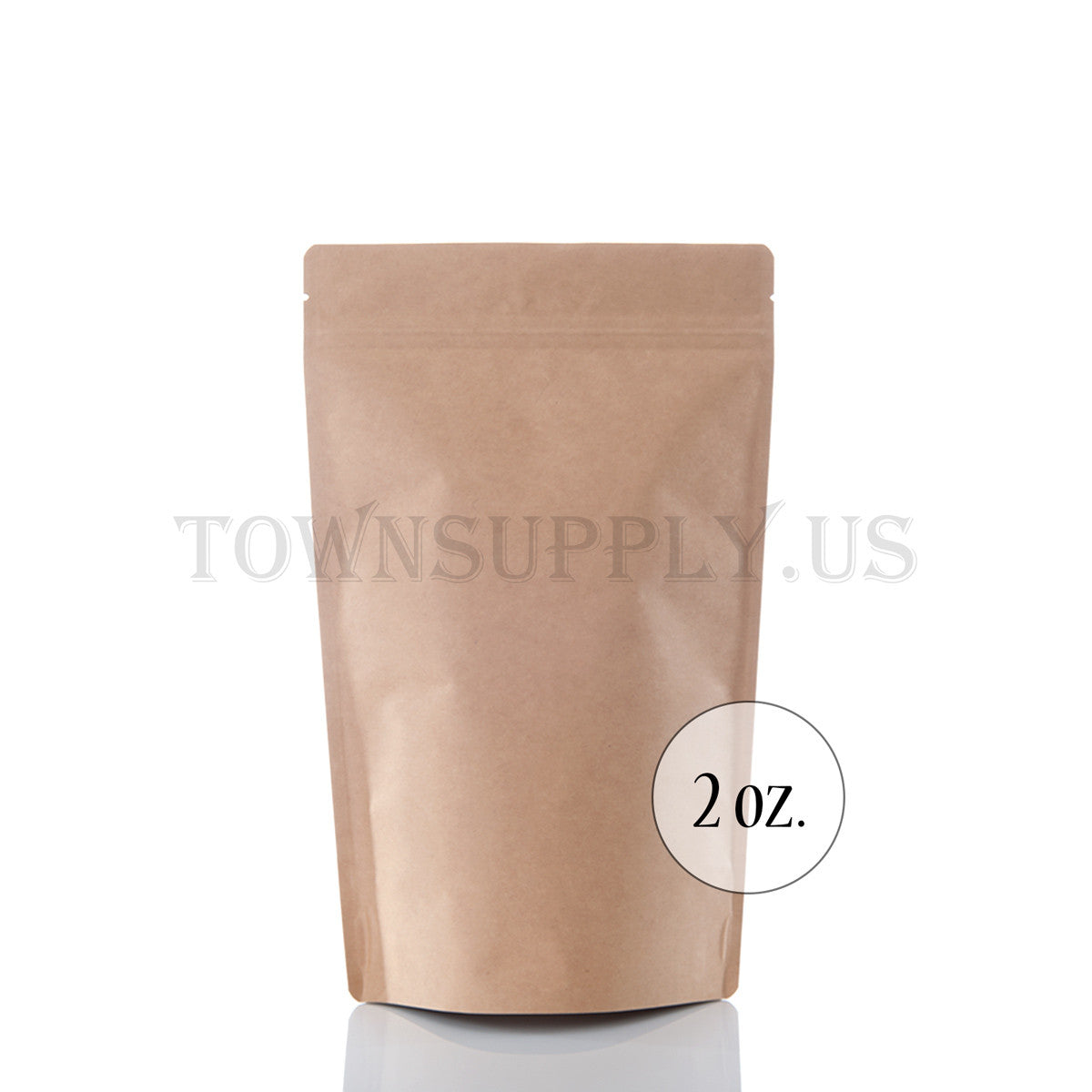 Kraft stand up pouch, foil lined 2 oz. bags - Town Supply