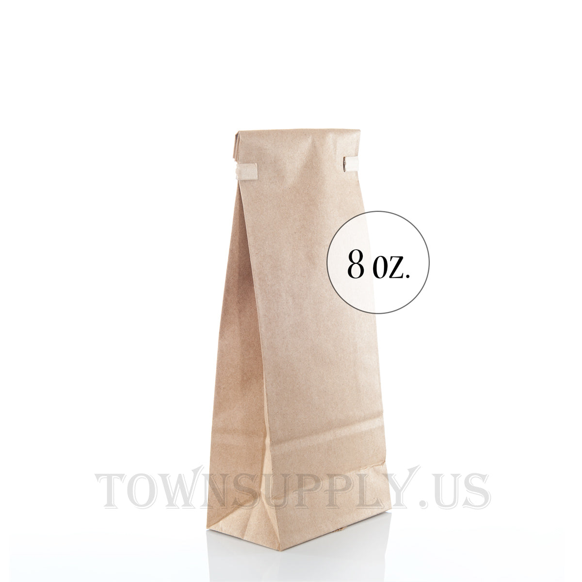 eco-friendly compostable 8 oz. natural kraft gusseted bags with tin tie closure - Town Supply