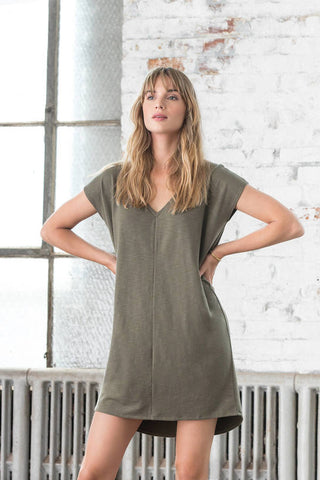 KALE  VNECK DRESS