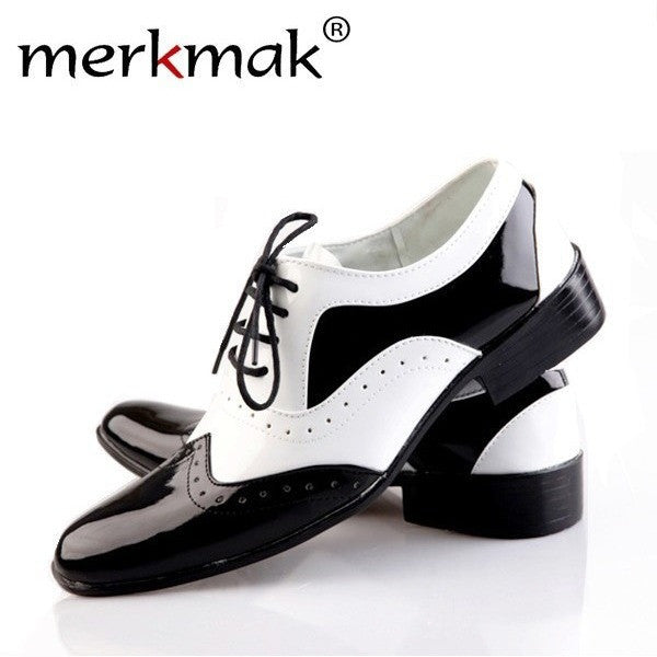 Merkmak Men's Pointed Toe Leather Shoes for Wedding and Special Occasional