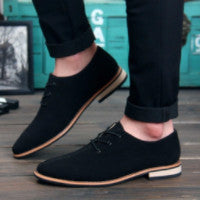 Men's Oxford Type Genuine Leather Business Casual Shoes