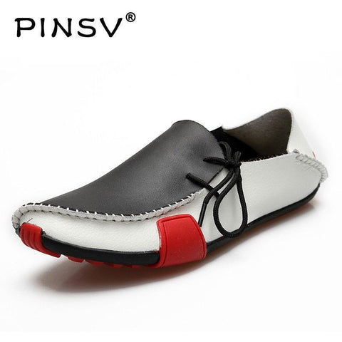 Moccasins Split Leather Loafers for Men Plus Sizes Available