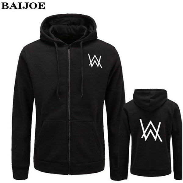 Music DJ Alan Walker Hip Hop Styled Hoodie Jacket for Men