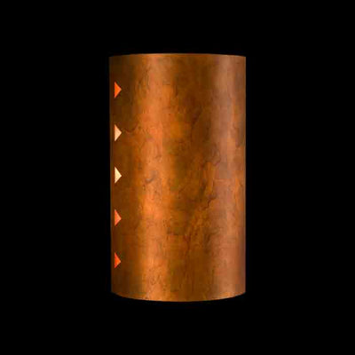 Socorro Outdoor Copper Sconce, Clear Top