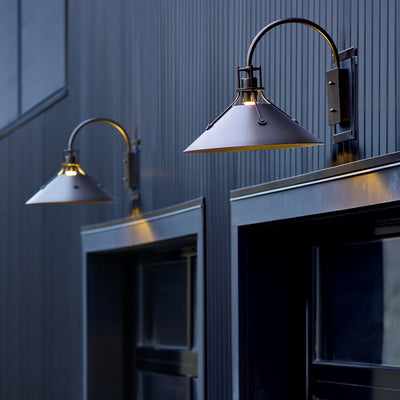 Hubbardton Forge Henry Medium Outdoor Sconce  - formplusfunction