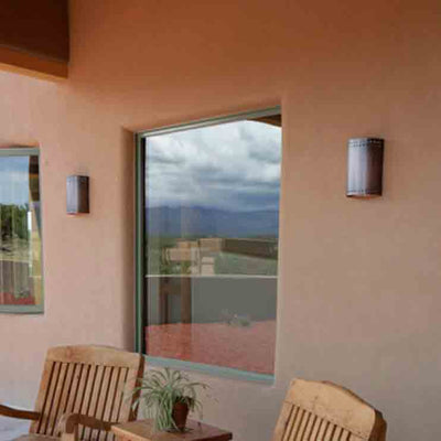 Socorro Outdoor Copper Sconce, Open Top