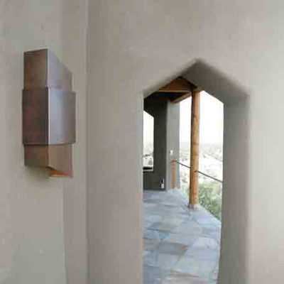 Carlsbad Outdoor Copper Sconce, solid Top