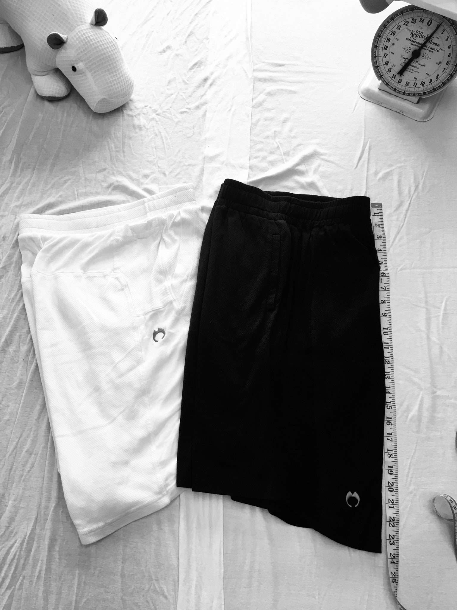 "Men's shorts with INNER ""PIECE"" sewn in."