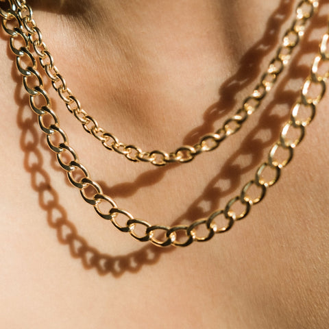 Layered Chunky Necklace Chains