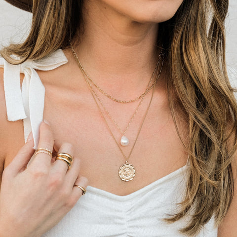 How to Layer Necklaces | Simple & Dainty