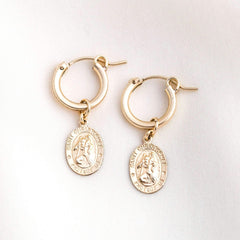 ST. CHRISTOPHER EARRINGS | Simple & Dainty