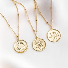 Zodiac Coin Necklace | Simple & Dainty
