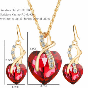 Austrian Style Heart Necklace