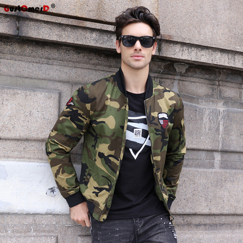 Men Casual Military Jacket