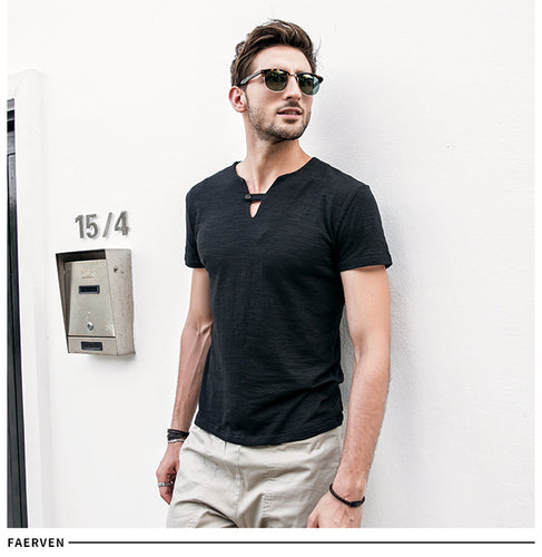 Casual V-Neck collar T-Shirt