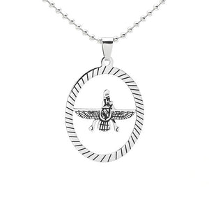 Farvahar Oval Pendant Necklace