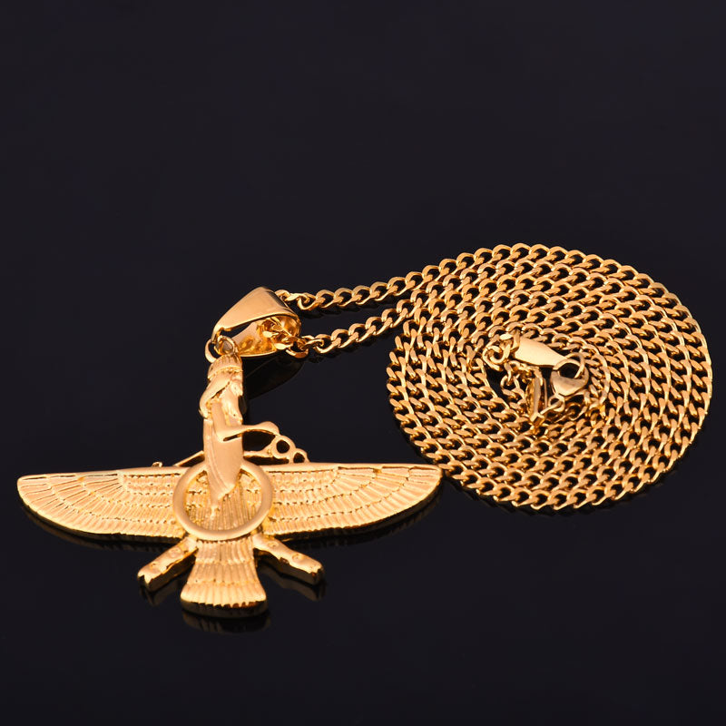Gold Color Farvahar Necklace