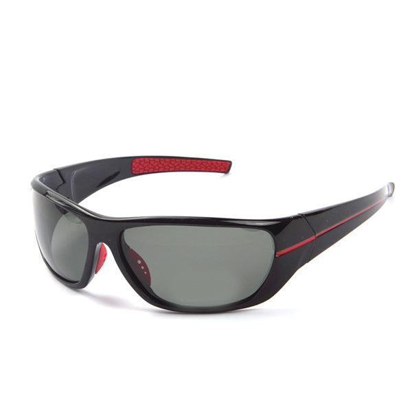 Z-P Fashion Men's Sports Style Riding Driving Windproof Vision Night Ultra Wide Sunglasses 80MM 5lSvxip