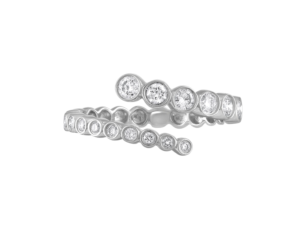 Bezel Grad Ring - White Gold