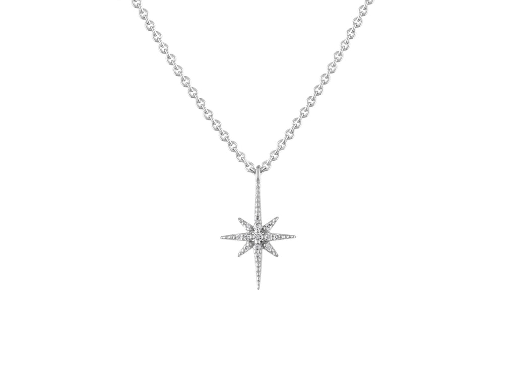 Celestial Star Pendant - White Gold