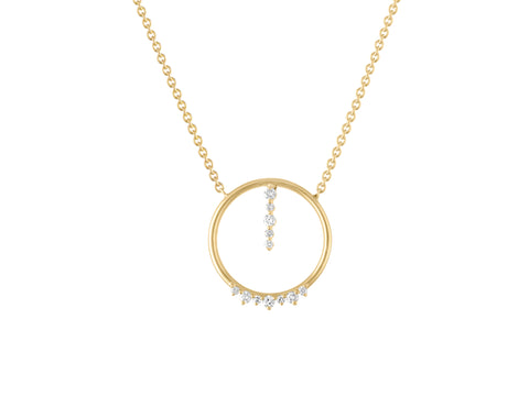Circle Pendant - Yellow Gold
