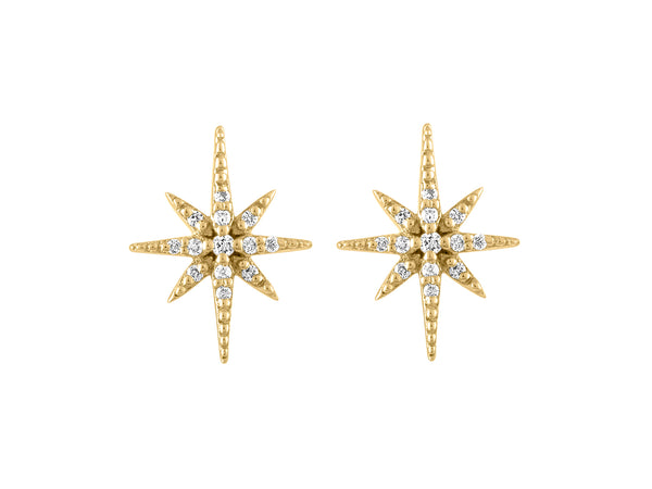 Diamond Celestial Earrings - Yellow Gold