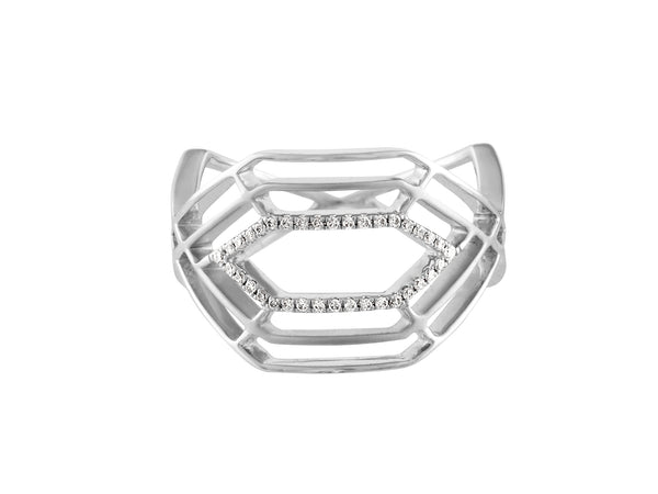 Hexa Ring - White Gold