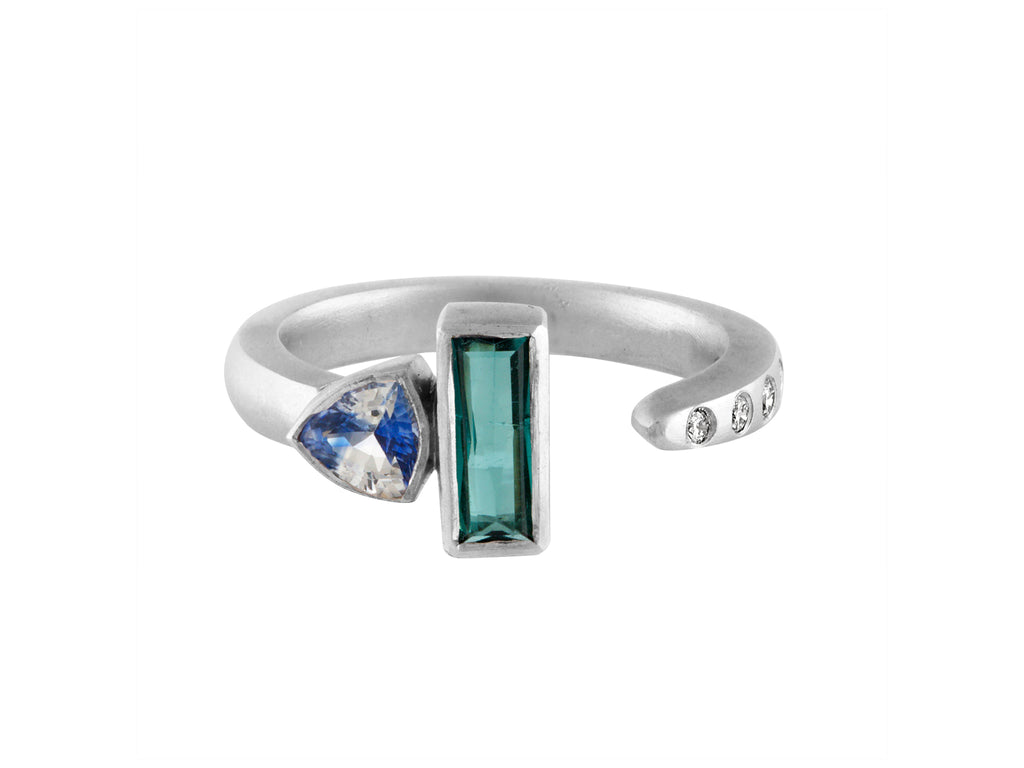 Sapphire Stackable - White Gold