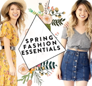 Spring Essentials are all about Comfort & Personal Style for 2020
