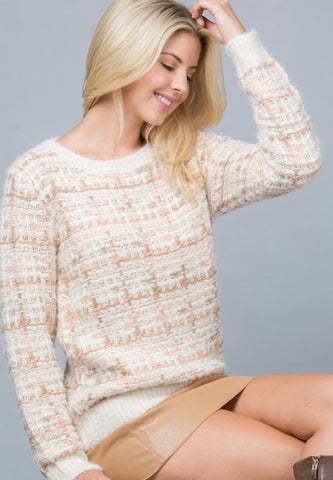 OC Social Butterfly boutique, unique style, Fall fashion trends, tweed sweater, Gee Gee fashion.