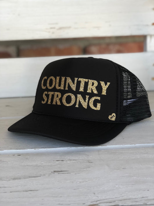 Country Strong Trucker Hat - Black by Mother Trucker   co ... 1c5d7298a92