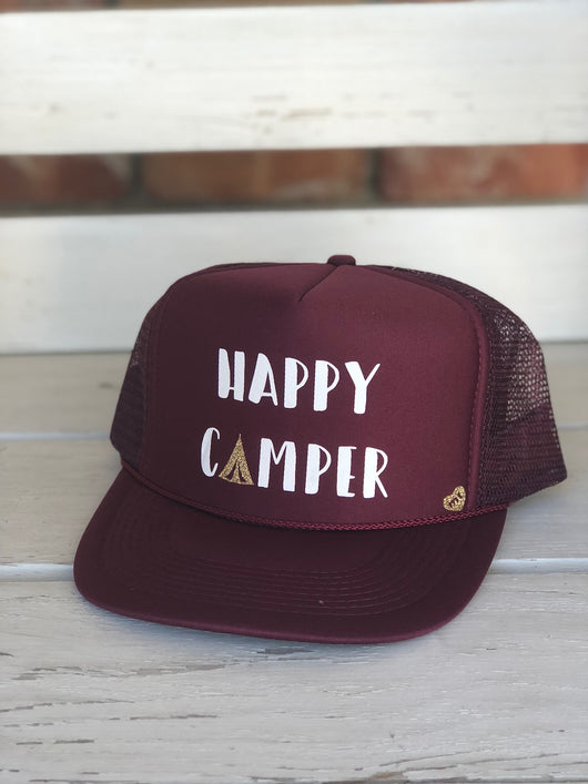 Happy Camper Trucker Hat by Mother Trucker & co.