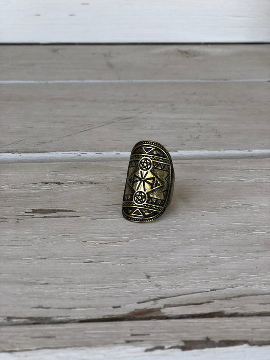 Brass Tribal Ring