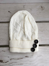 Beanie with Three Buttons