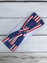 American Flag Knotted Cotton Headband