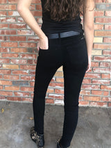 Black Skinny Stretch Jeans by Hammer