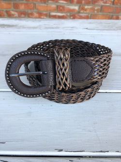Dark Brown Weaved Belt