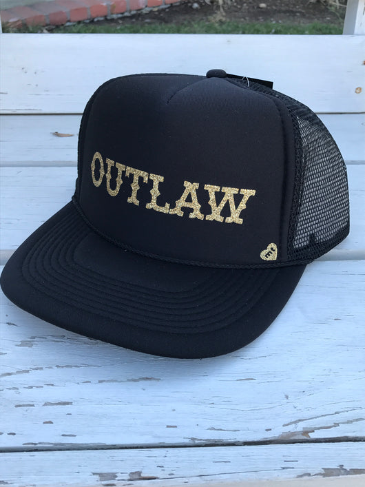 Black Outlaw Adjustable Trucker Hat by Mother Trucker & co  Take your outfit to the next level with OC Social Butterfly's accessory collection. We feel you can never go wrong with adding hat to your look. Check out our MotherTrucker hats and our Summer Floppy Hats.  Ships from the USA, unique style, fashion trends, popular hats, country girl hat, stagecoach festival fashion