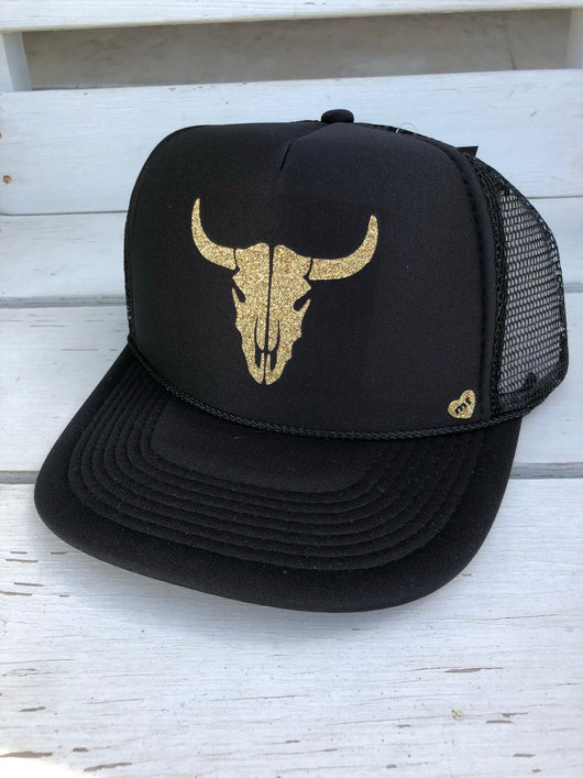 Bullhorn Trucker Hat - Black by Mother Trucker & co