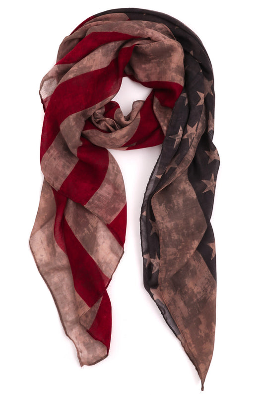 Rustic American Flag Rectangle Scarf