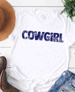 CowGirl Ropes & Boots White Graphic Tee