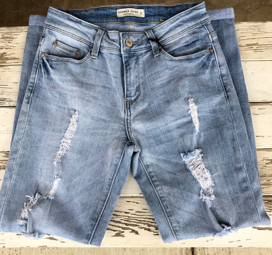 Girlfriends Light Blue Distressed Jeans