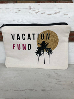 Vacation Fund Large Zipper Pouch by Mother Trucker & co. OC Social Butterfly brings together a specially curated collection of clothing and accessories. From the latest trends to the most comfortable everyday attire at an affordable price. Ships from the USA, unique style, beach bag, pool bag, vacation
