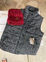 Black/Grey Padded Vest w/Pockets