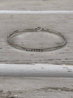 Blessed Silver Bangle Bracelet  Currently obsessing over stackable bracelets. Handmade Beaded Bracelets are our go-to. Social Butterfly brings together a specially curated collection of clothing and accessories. From the latest trends to the most comfortable everyday attire at an affordable price.  Ships from the USA, unique style, fashion trends, fashion jewelry, inspirational bracelets