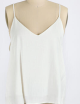 Off-White Double Layered V-Neck Cami Top