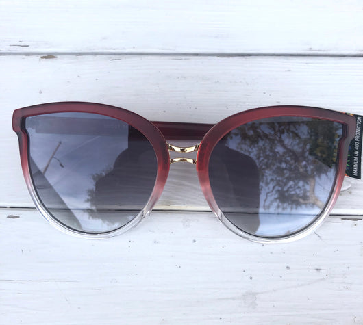 Rose Dazey Shades Gold & Clear Frame Cat eye Sunglasses