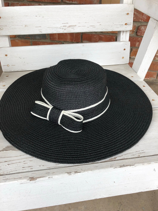 Black Floppy Hat w/bow