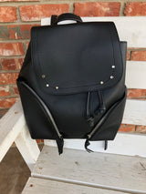 Black Cinched Backpack