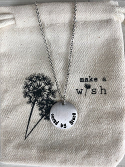 Saved by Grace Silver Coin Necklace by Make a Wish